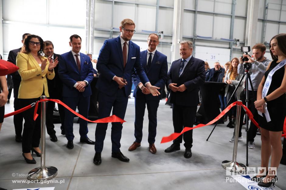 Magazyn wysokiego składowania w centrum logistycznym Portu Gdynia - otwarty