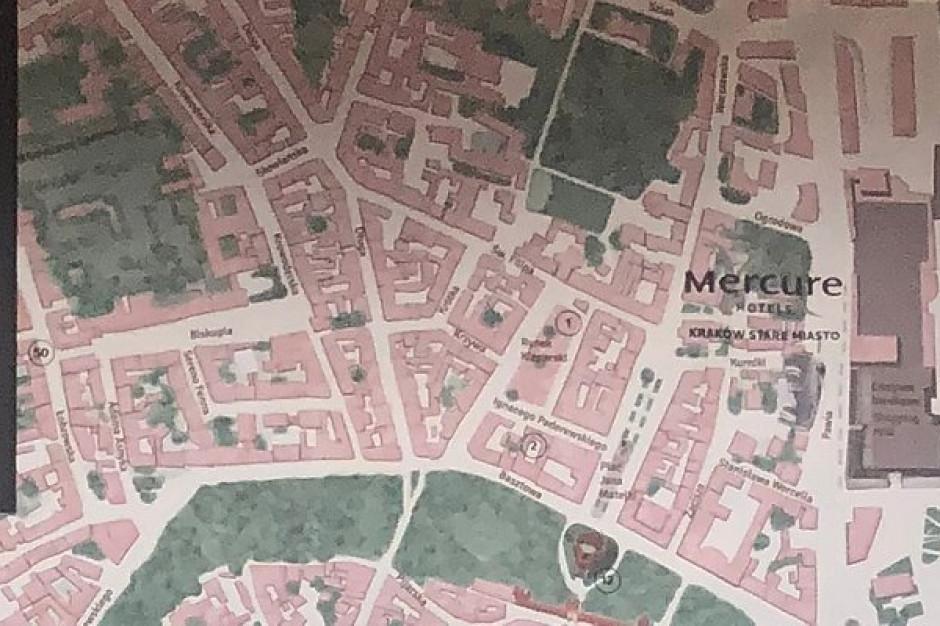 Miejskie atrakcje na ścianie. Niezwykła mapa w Mercure Kraków Stare Miasto