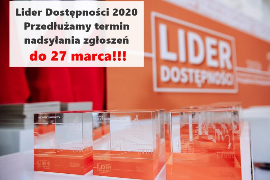 Termin składania zgłoszeń w konkursie Lider Dostępności przedłużony do 27 marca