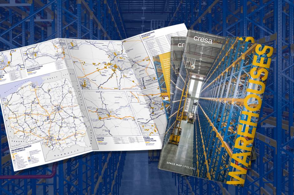 Nowa mapa powierzchni magazynowych i przemysłowych w Polsce