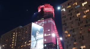 Globalworth przygotował niezwykłą iluminację na fasadzie Spektrum Tower