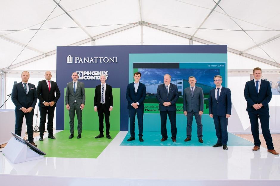 Wiecha na obiekcie budowanym przez Panattoni dla Phoenix Contact E-Mobility