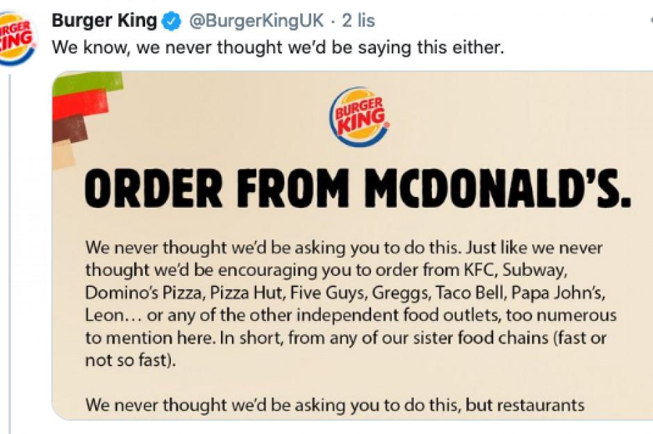 Burger King zachęca do zamawiania u konkurencji