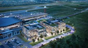 Pierwszy biurowiec Airport City Gdańsk z wiechą