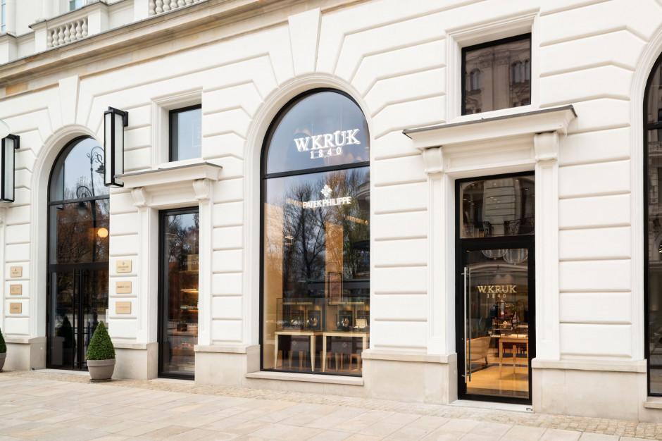 Butik W. Kruk przy Hotelu Raffles Europejski z najsłynniejszymi zegarkami świata