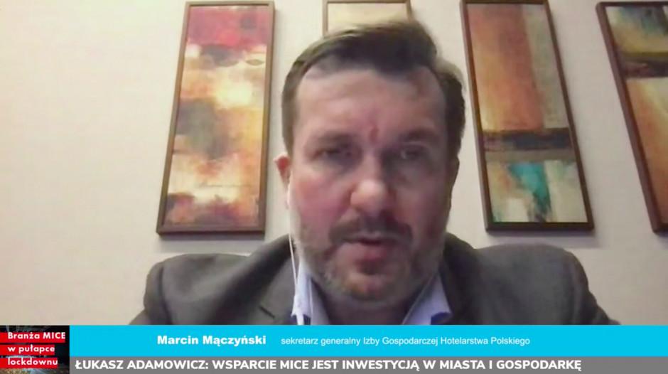 MICE: Jak utrzymać miejsca pracy i wrócić na rynek? Za nami debata Propertynews.pl i TUgether! Na zdjęciu Marcin Mączyński, sekretarz generalny Izby Gospodarczej Hotelarstwa Polskiego