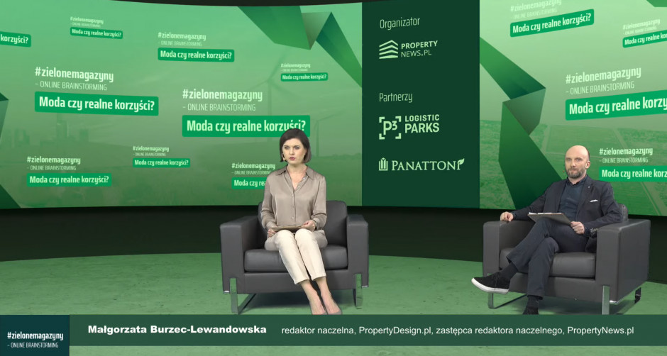 Małgorzata Burzec-Lewandowska, Robert Posytek, Propertynews.pl, moderatorzy debaty #zielonemagazyny