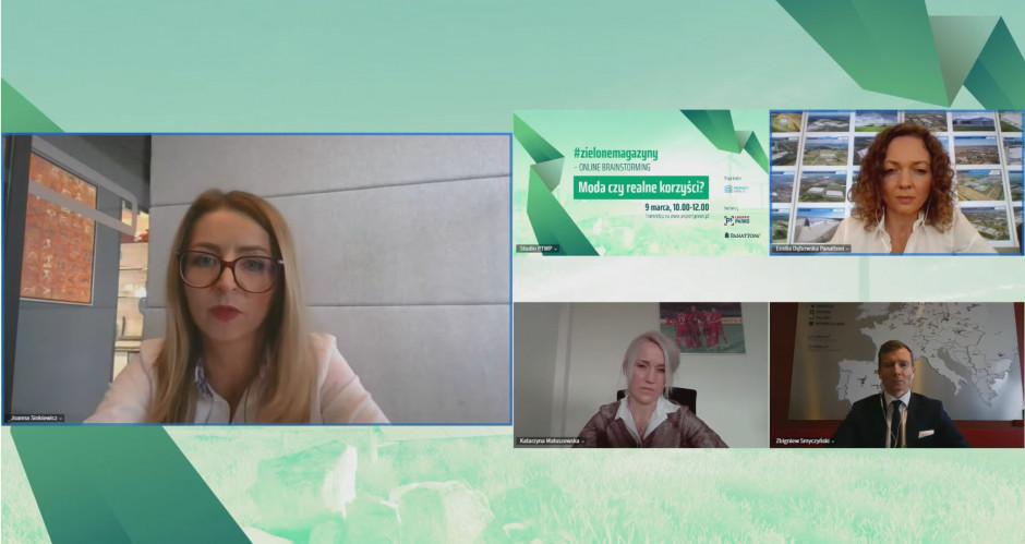 Uczestnicy Online brainstorming pod hasłem: #zielonemagazyny: Moda czy realne korzyści?