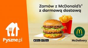 Pyszne.pl i McDonald's zrealizują razem zamówienia z ponad 100 restauracji