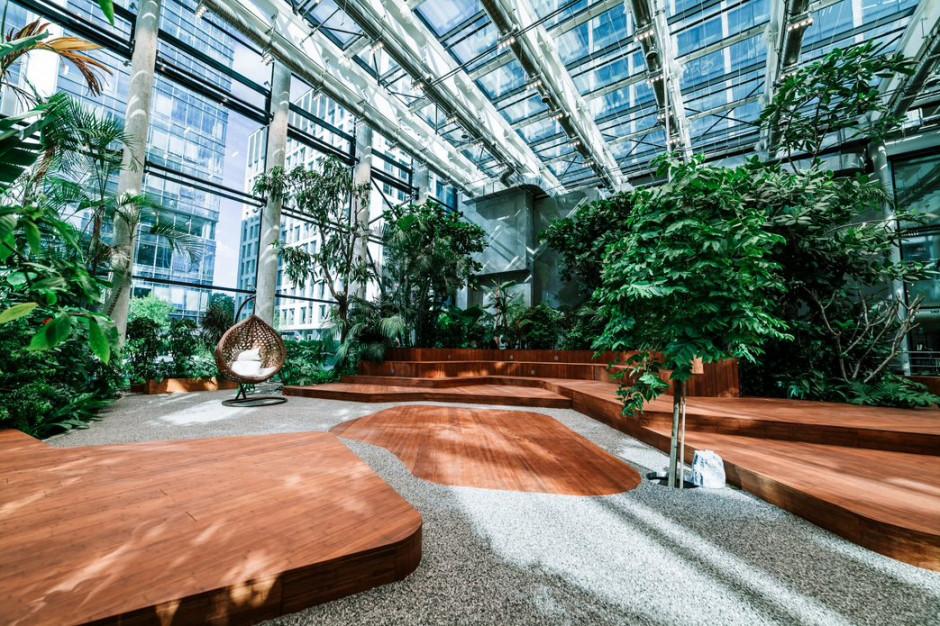 Tropikalnie w Olivia Business Centre. Kiedy ruszy Olivia Garden?