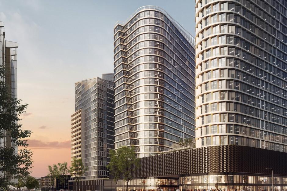 Biurowe wieże Global Office Park w Katowicach z wiechą