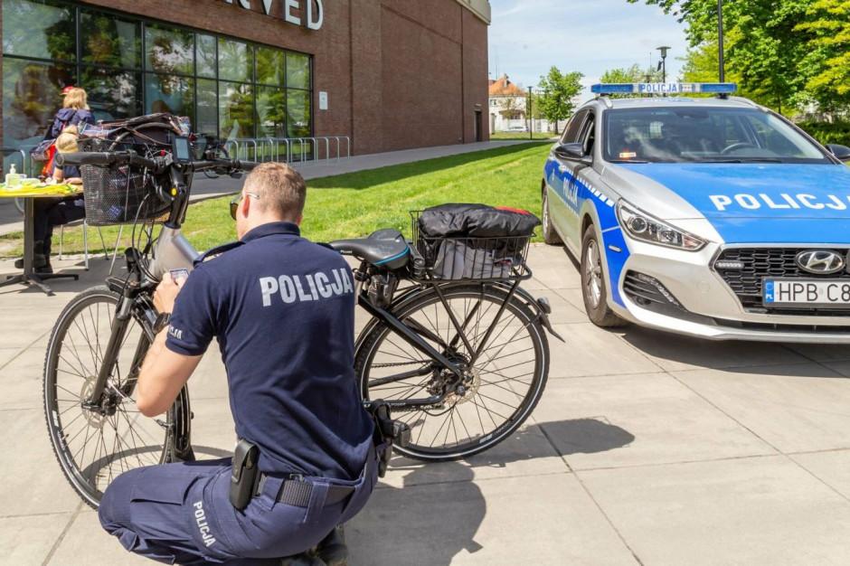 Magnolia Park pomaga znakować rowery