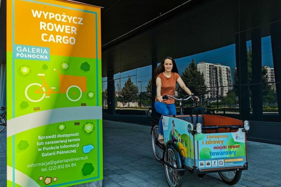 Galeria Północna wypożycza rowery cargo