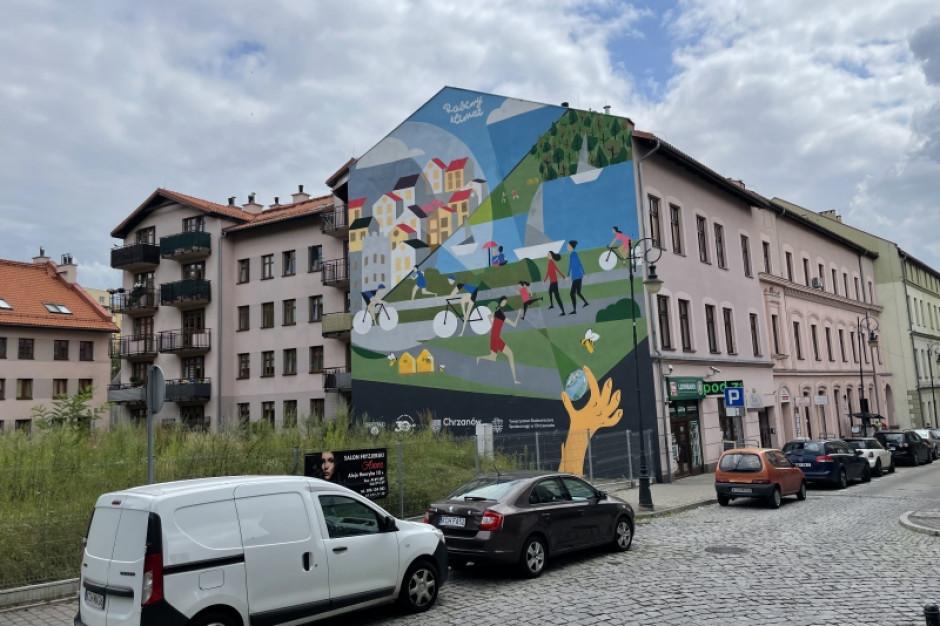 Dan Cake z oczyszczającym powietrze muralem w Chorzowie