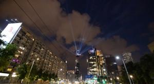 Wiecha na budowie biurowo-handlowej wieży Skysawa