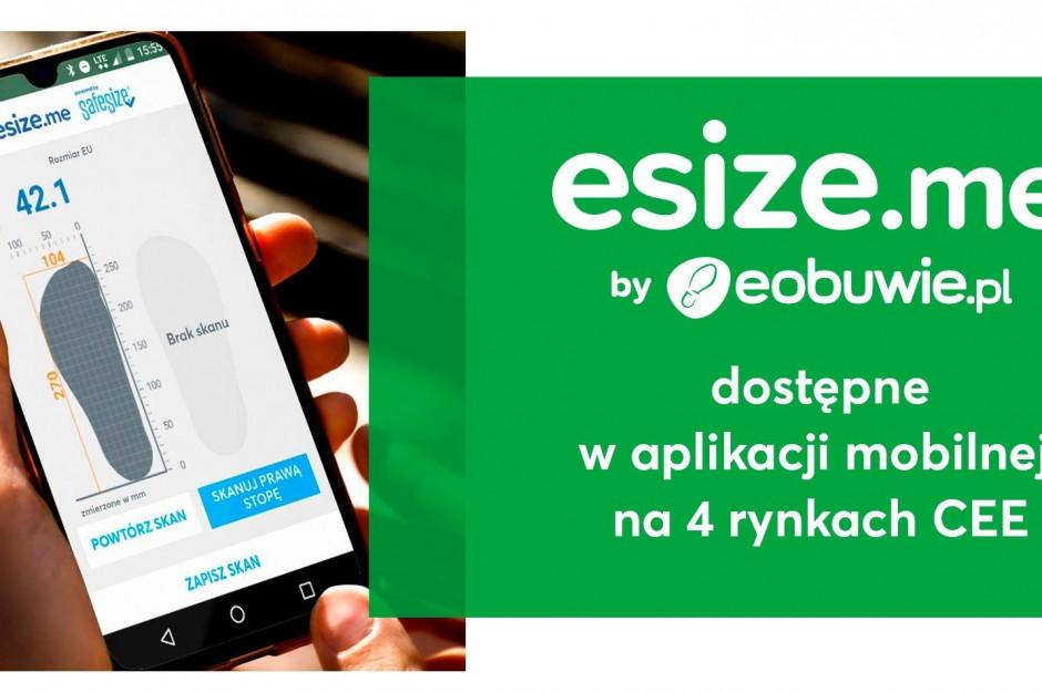 Eobuwie.pl wprowadza aplikację esize.me na rynki zagraniczne