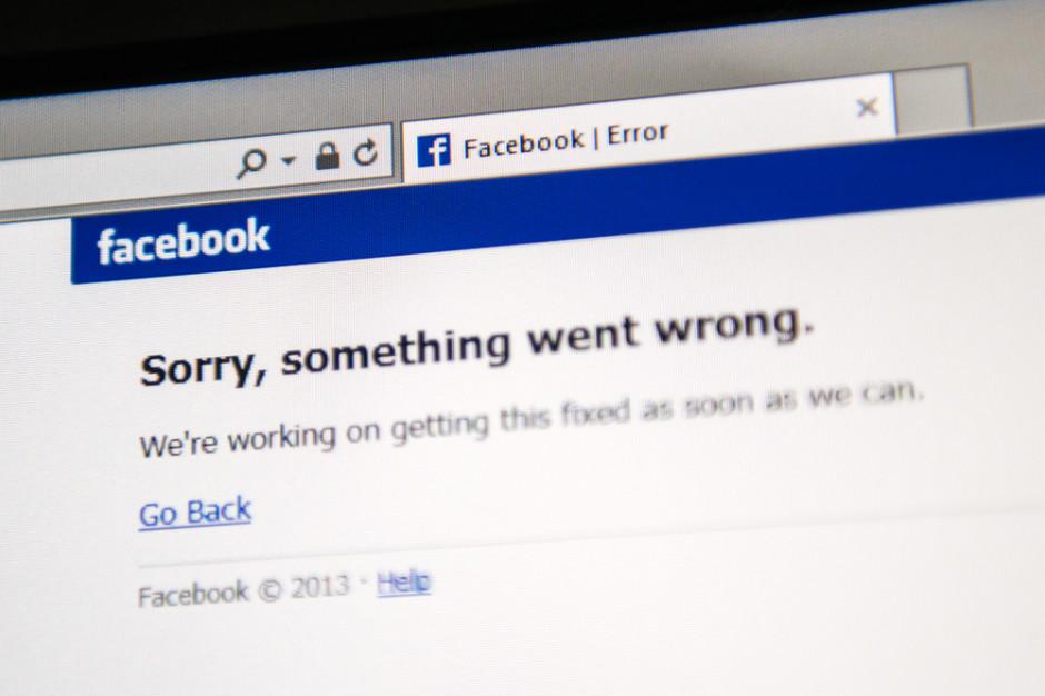 Wielkie koszty awarii Facebooka