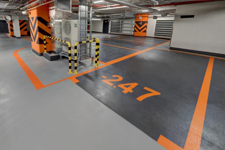 Tak wygląda parking w biurowcu Warsaw Unit